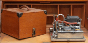 Sale 8795A - Lot 85 - A scientific apparatus made by H, Clemence? in a timber fitted case