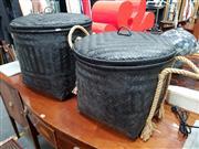 Sale 8834 - Lot 1050 - Graduated Cane Baskets