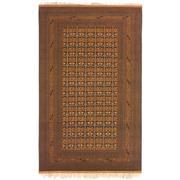 Sale 8870C - Lot 27 - Afghan Fine Vintage Turkoman Carpet in Wool & Silk, 312x223cm