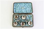 Sale 8890 - Lot 87 - Boxed set of silver hallmarked salts (one missing), hallmarked Birmingham by Hilliard & Thomason