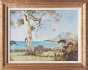 Sale 8961 - Lot 2092 - Artist Unknown, Coastal View, Oil 30x40cm