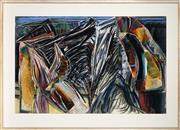 Sale 9001 - Lot 567 - Helen Geier (1946 - ) - Winged Study II, 1985 93 x 143 cm (frame: 123 x 170 x 5 cm)