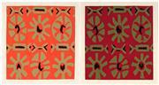 Sale 8980A - Lot 5070 - Una Foster (1912 - 1996) (2 works) - Untitled (Graphics) 10 x 9.5cm (mount: 56 x 45.5 cm) ; 10.5 x 10cm (mount: 56 x 46 cm)