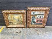 Sale 9011 - Lot 2089 - Pair of Ornately Framed Reproduction Paintings