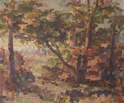 Sale 9123J - Lot 24 - Arthur Murch Landscape oil on board, 48x58cm signed lower right.