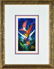 Sale 8394 - Lot 528 - Kevin Charles (Pro) Hart (1928 - 2006) - Still Life - Flowers 20 x 11cm