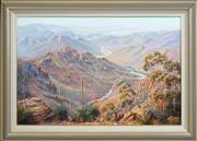 Sale 8415 - Lot 543 - John Bradley (1945 - ) - Arkaroola Range 59.5 x 90cm