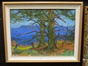 Sale 8419T - Lot 2006 - L. Sanderson - Pines over Megalong Valley 45 x 60cm