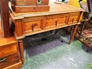 Sale 8648 - Lot 1048 - Carved Timber Desk with Three Drawers