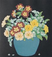 Sale 8764A - Lot 5082 - John Hall Thorpe (1874 - 1947) - Forgot Me Nots 16.5 x 15cm