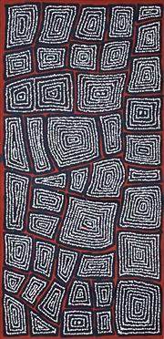 Sale 8786 - Lot 592 - Thomas Tjapaltjarri (c1964 - ) - Tingari Cycle 122 x 62cm