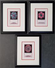 Sale 8961 - Lot 2096 - 3 Framed Floral Prints, all 23x18cm