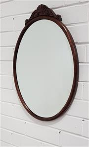 Sale 9063 - Lot 1090 - Mahogany Framed Mirror (h:59 x d:41cm)