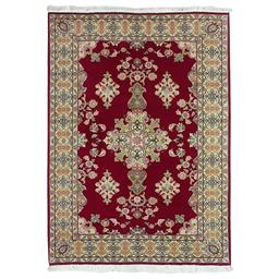 Sale 9090C - Lot 19 - Persian Fine Tabriz Rug, 100x150cm, Handspun Wool & Silk Inlaid