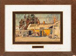 Sale 9199J - Lot 64 - Auguste Mangin, (France 1868-1945) - Village Study 9cm x 16cm