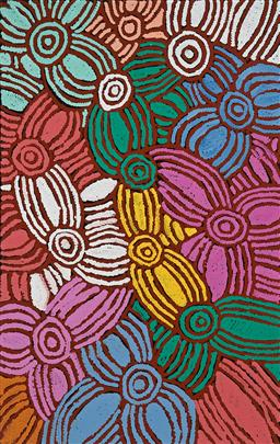 Sale 9212A - Lot 5029 - GLENYS GIBSON NUNGURRAYI (1968 - ) Womens Ceremony acrylic on canvas 153 x 97 cm (stretched and ready to hang) signed verso; certif...