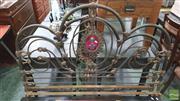Sale 8390 - Lot 1528 - Cast Iron Bed Frame