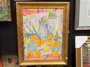 Sale 8417T - Lot 2013 - Edna Garran-Brown - Oranges and Lemons 60 x 44cm