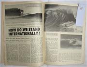 Sale 8431B - Lot 48 - Two plus pages, How We Stand Internationally by Ross Renwick, who examines Australia's position in World of Surfing pages 38 and 39...