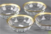 Sale 8591 - Lot 3 - Moser Set of 4 Bon Bon Dishes