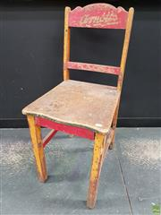 Sale 8625 - Lot 1007 - Arnotts Sao Savorette Shop Display Chair (missing front rail)