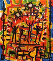Sale 8652 - Lot 501 - Carlos Barrios (1966 - ) - Playground, 1993 89 x 80cm