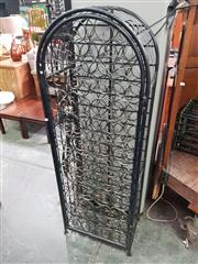 Sale 8672 - Lot 1050 - Black Painted Metal Wine Cage