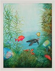 Sale 8789 - Lot 2033 - Sue Nagel (1942 - ) - Turtle in the Underworld 80 x 60cm