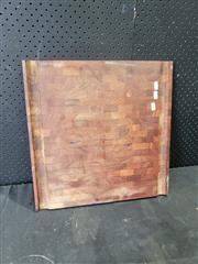 Sale 9026 - Lot 1045 - Timber Chopping Board, Marked Genuine Teak(46 x 46cm)