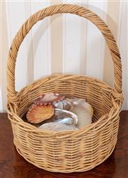 Sale 9058H - Lot 82 - A basket full of shells