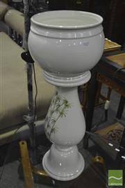 Sale 8341 - Lot 1027 - Italian Hand Made Planter & Pedestal (575)