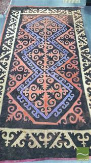Sale 8352 - Lot 1013 - Early Large Uzbek Felt Rug  (some small tears, 246 x 448cm)