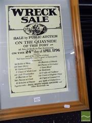 Sale 8461A - Lot 2079 - 1796 Sale Poster (framed)