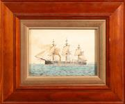 Sale 8960J - Lot 14 - Artist Unknown (C20th) - Ship study 14 x 19.5cm