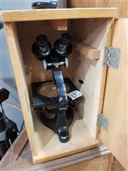 Sale 8724 - Lot 1087 - Vintage Microscope in Case