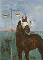 Sale 8732 - Lot 564 - Adriane Strampp (1960 - ) - Untitled, 1986 (Justice) 146.5 x 110cm