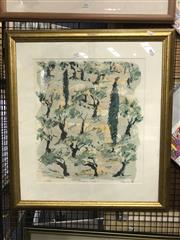Sale 8797 - Lot 2026 - 2 Works: Pietro Annigoni - Portrait, 52/500 & Rankin - Judean Hills I, 23/60 -