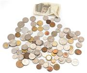 Sale 8855H - Lot 94 - Assorted World Currency including coins and 1000 Lira note