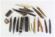 Sale 8860V - Lot 85 - Box Of Early And Vintage Cutthroat Razors