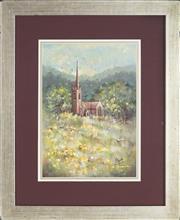 Sale 8891 - Lot 2065 - Margot Gough - Scottish Kirk, Edinburgh 35 x 25 cm