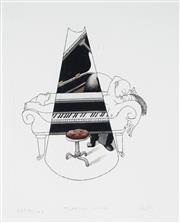 Sale 9021 - Lot 591 - Tom Samek (1950 - ) - Playing Cage, 1984 15 x 11 cm (frame: 47 x 41 x 3 cm)