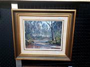 Sale 9061 - Lot 2025 - John Emmett, Quiet Waters, Wolgan oil on canvas board frame: 33 x 38 cm. signed lower right