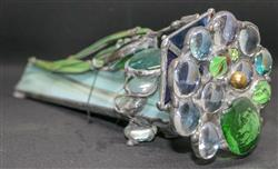 Sale 9093A - Lot 5101 - Deborah Wood - Coffee Table Jewellery (Kaleidoscope adorned with leaves)