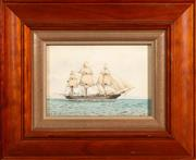 Sale 8960J - Lot 15 - Artist Unknown (C20th) - Ship study 14 x 19.5cm
