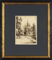 Sale 8794A - Lot 5082 - Allan Grover (1900 - 1984) - The University of Adelaide 23.5 x 18cm
