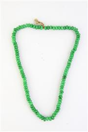 Sale 8802 - Lot 453 - A Green Beaded Necklace