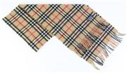 Sale 8820 - Lot 428 - A VINTAGE BURBERRYS OF LONDON CASHMERE NOVA CHECK SCARF; 30 x 150cm incl fringe with label.
