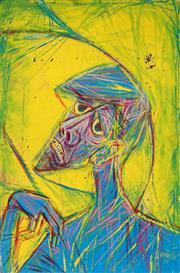 Sale 8938A - Lot 5075 - Wolfgang Grasse (1930 - 2008) - Portrait of a Man, 1977 92 x 61.5 cm