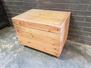 Sale 8962 - Lot 1045 - Pine Lift Top Trunk (H:58 x L:76 x D:54cm)