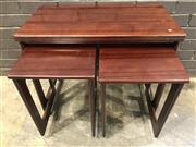 Sale 9039 - Lot 1094 - Rosewood Nest of 3 Tables by McIntosh (H51 x W74x D40cm)